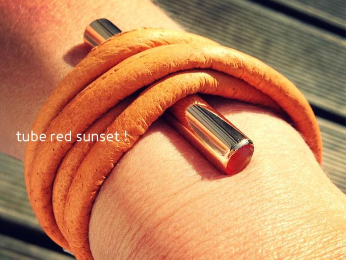Tube Brace Red Sunset