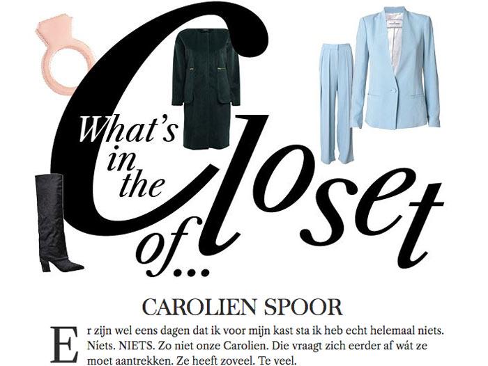 November 2013: Actrice Carolien Spoor Gunt Ons Een Kijkje In Haar Kast