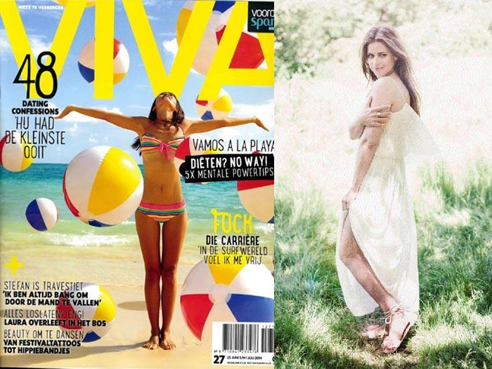 Juli 2014: Publicatie In De Nieuwste Viva Met Mooie Zwoele Foto