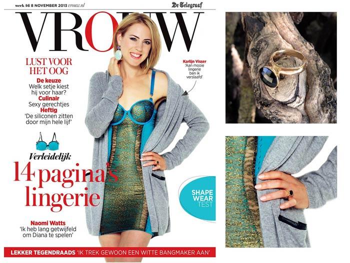 November 2013: Goodiebaggirl Karlijn Visser Op Cover Telegraaf VROUW !
