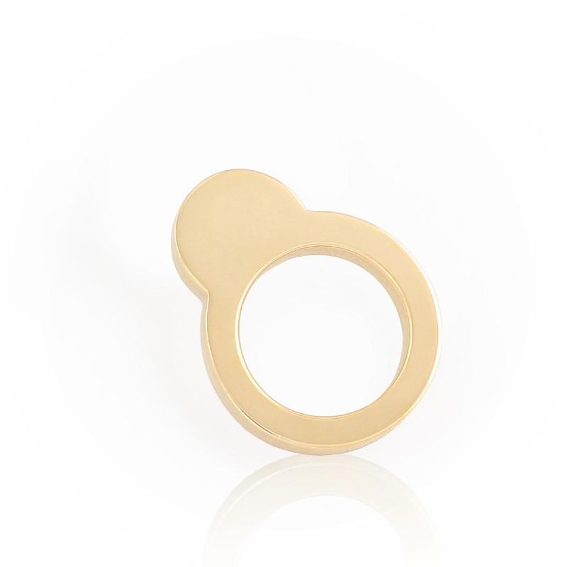 Scope-Ring Sun 18K Goud Verguld