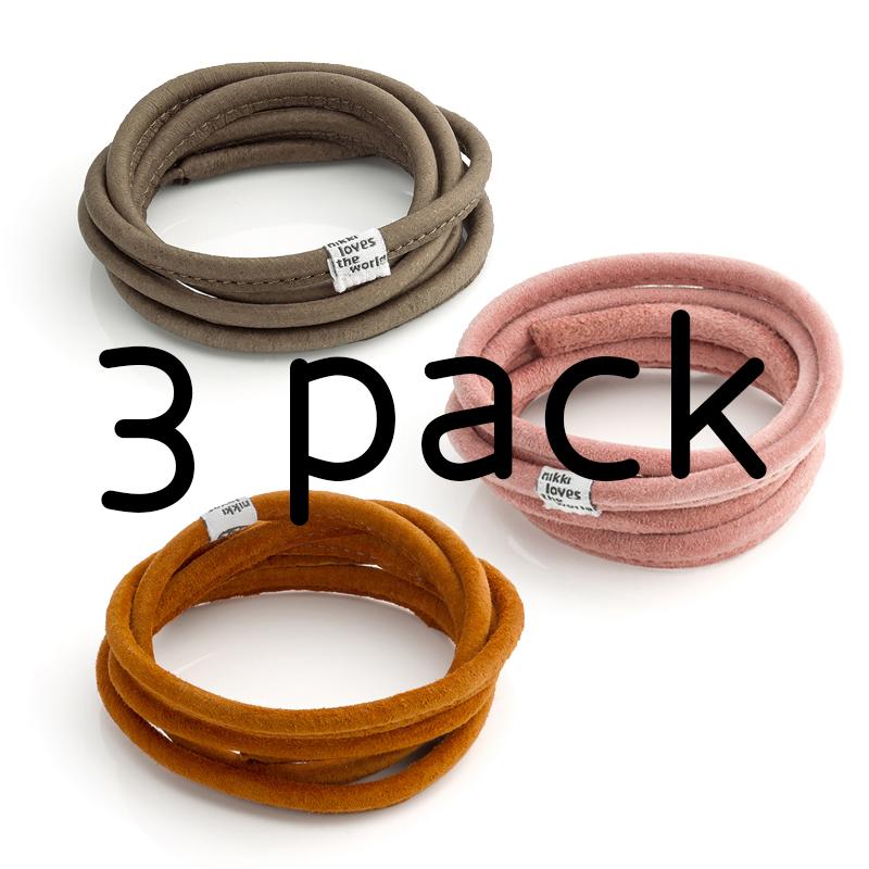 3-Pack Lederen Koord