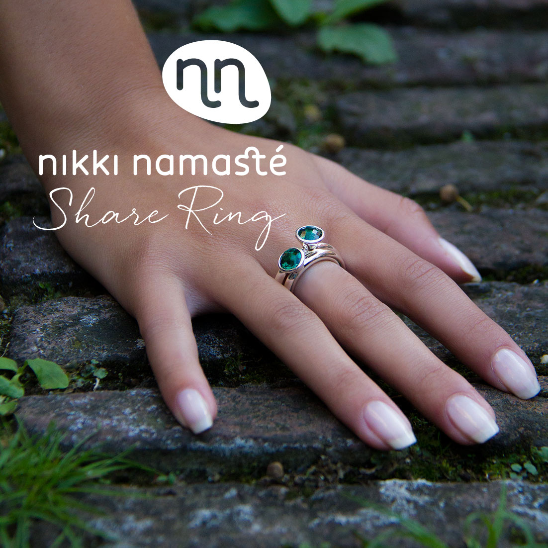 Hand Share Ring PP Tekst